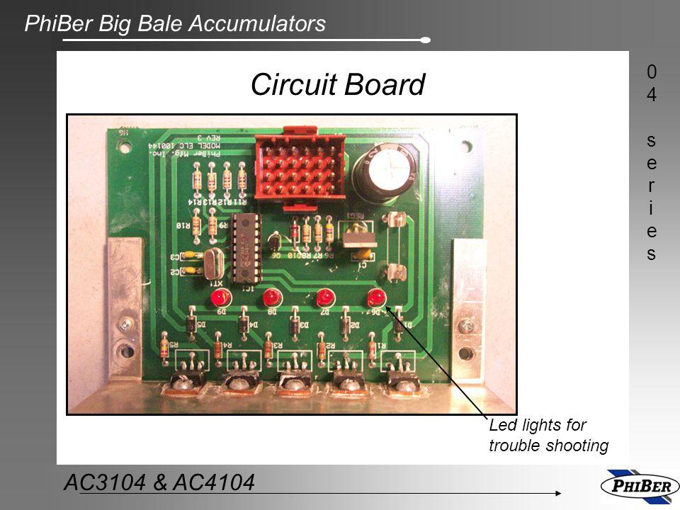 PhiBer Big Bale Accumulators 04series04series AC3104 & AC4104 Circuit Board Led lights for trouble shooting