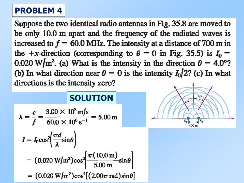 PROBLEM 4 SOLUTION