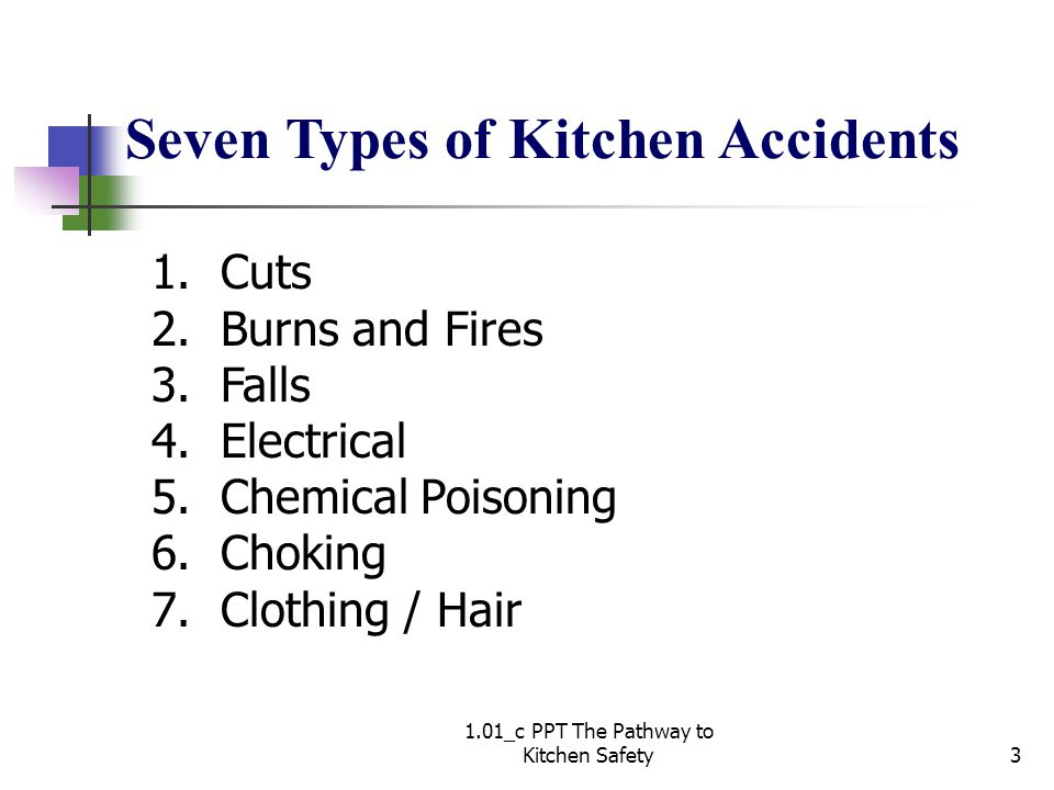 1.01_c PPT The Pathway to Kitchen Safety3 1. Cuts 2.