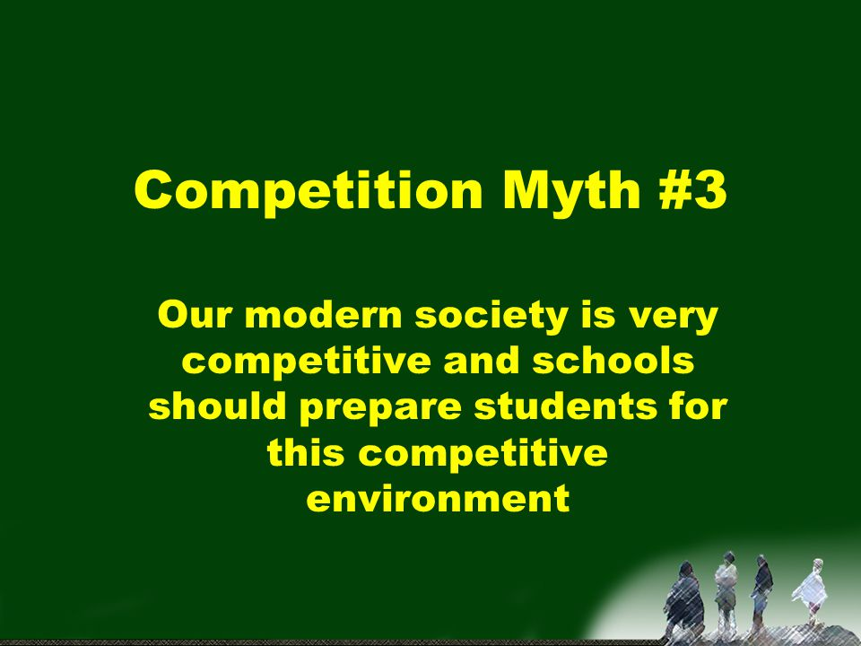 Adult, real world competition Only compete when you wish to Only compete against peers