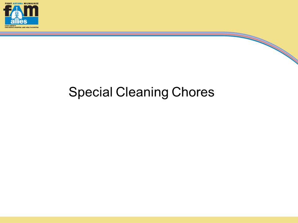 Special Cleaning Chores