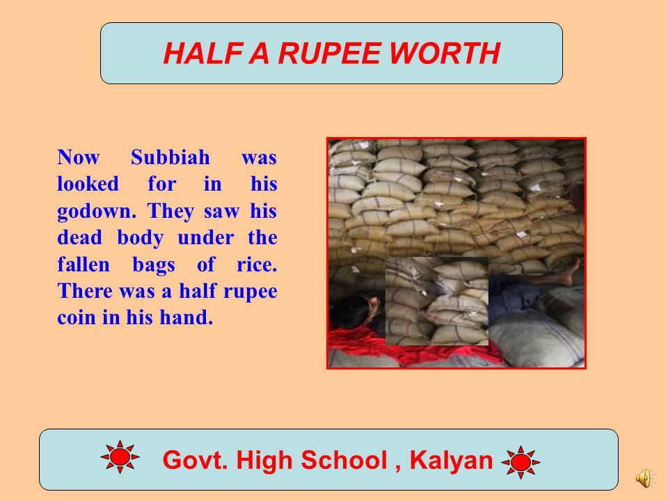 HALF A RUPEE WORTH Govt.