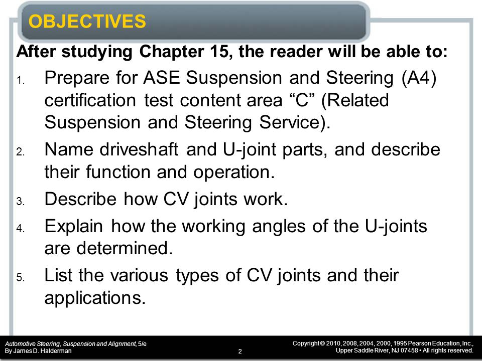 Automotive Steering, Suspension and Alignment, 5/e By James D.
