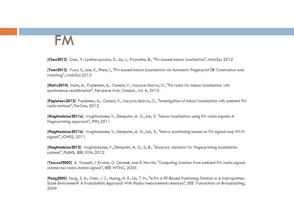FM [Chen2012] Chen, Y., Lymberopoulos, D., Liu, J., Priyantha, B.,