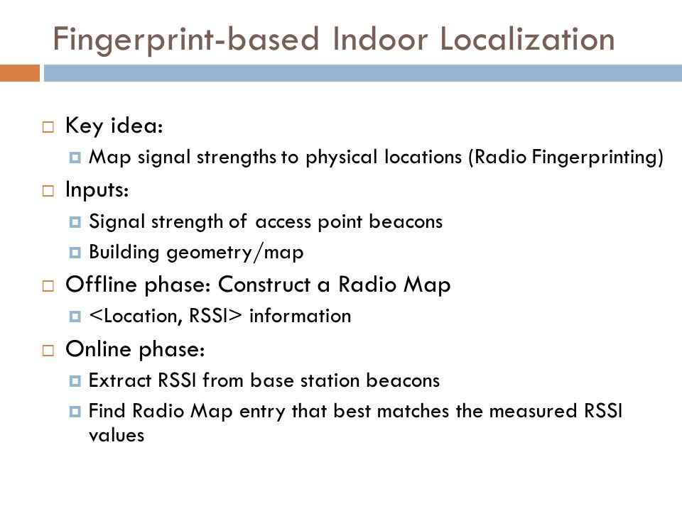 Outline FM GSM Sound Magnetic Field What's Next? WiFi
