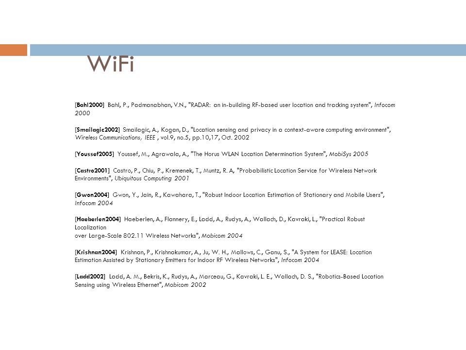 WiFi [Bahl2000] Bahl, P., Padmanabhan, V.N.,