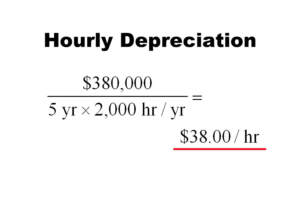 Hourly Depreciation