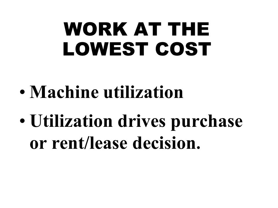 OPERATING COST OPERATOR WAGES
