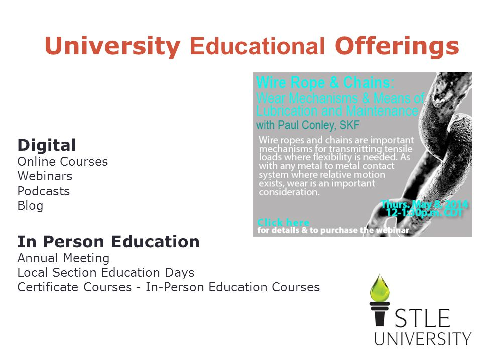 Digital Online Courses Webinars Podcasts Blog In Person Education Annual Meeting Local Section Education Days Certificate Courses - In-Person Educatio
