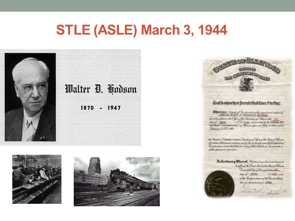 STLE (ASLE) March 3, 1944