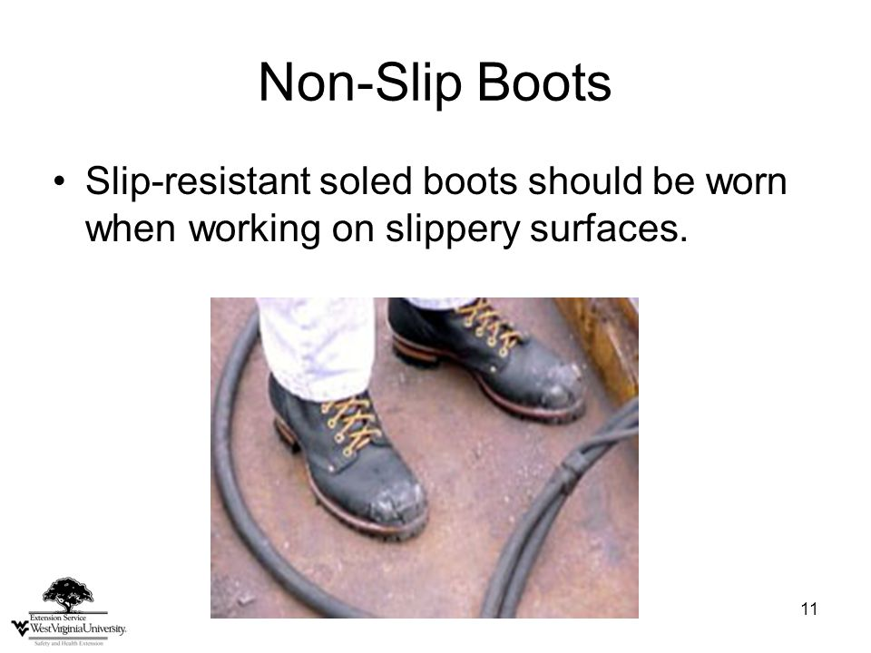 12 Preventing Slip and Trip Injuries Pay close attention to conditions.
