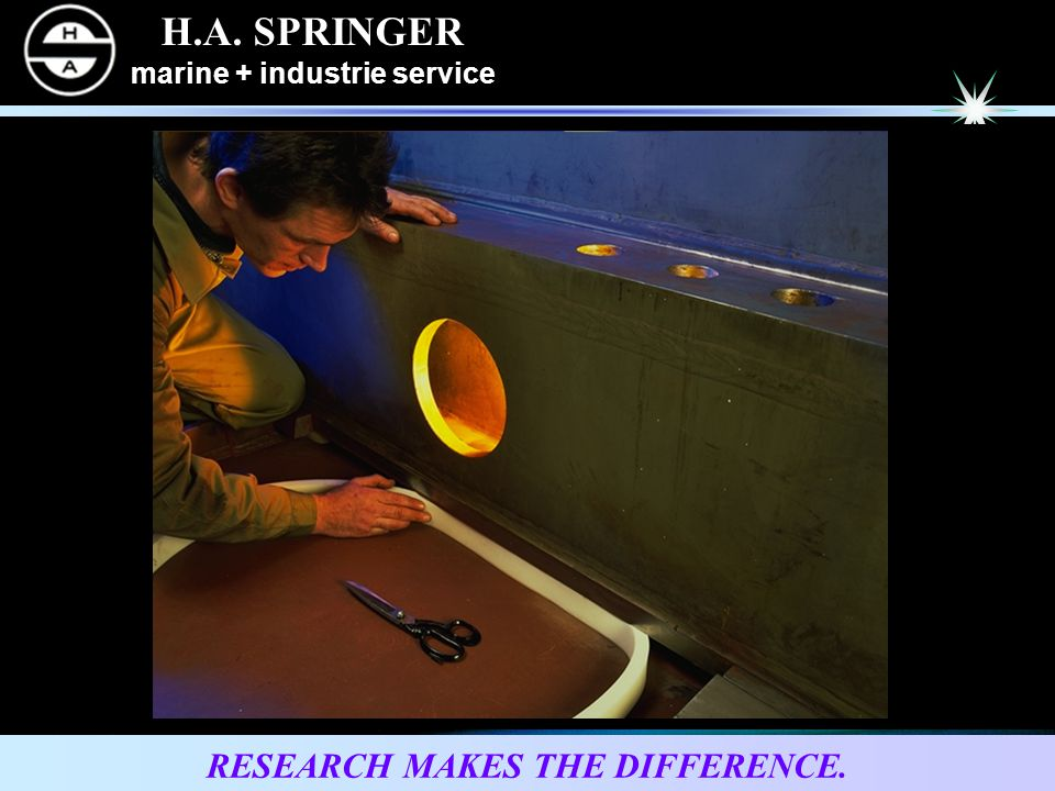 H.A. SPRINGER marine + industrie service RESEARCH MAKES THE DIFFERENCE.