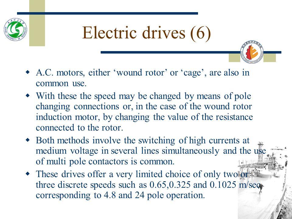 Figure 9.2 Load/speed characteristic of Ward Leaoard thyristor controlled winch.