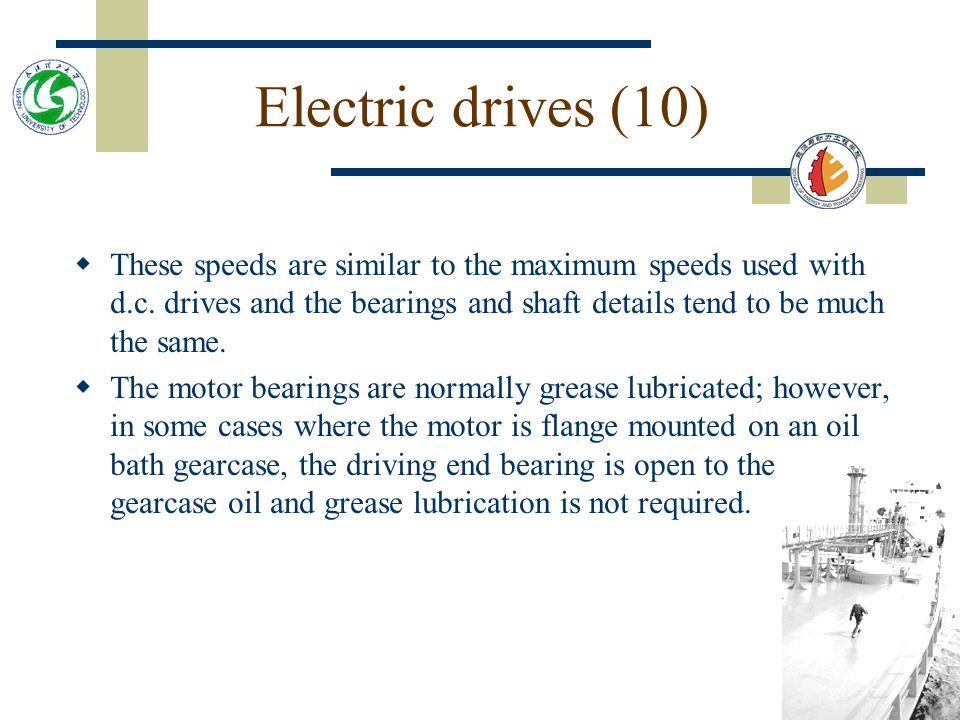 Electric drives (9)  Control of an overhauling load is possibly by means of injection braking techniques.  A combined system employing both these co