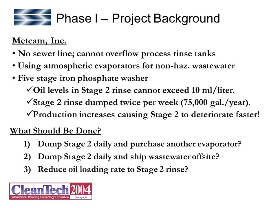 Phase I – Project Background Metcam, Inc.