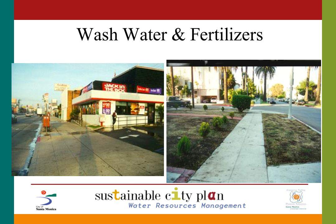 Wash Water & Fertilizers