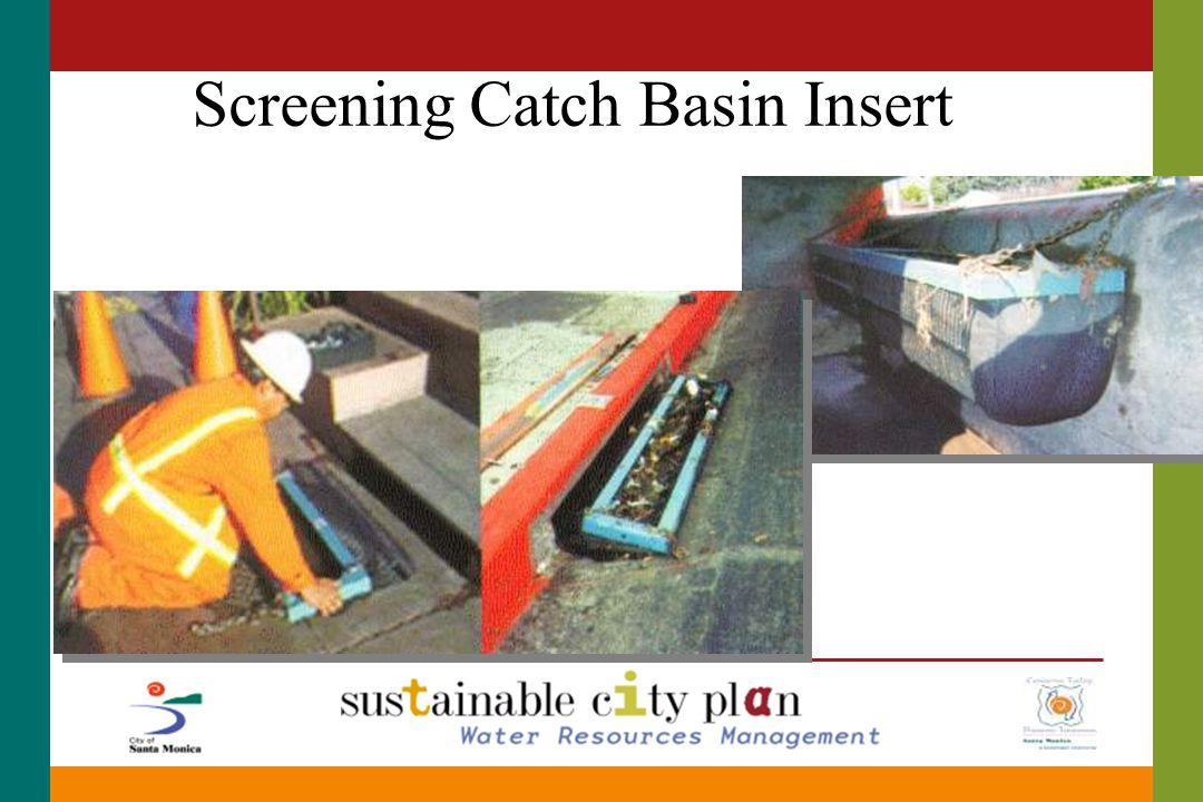 Screening Catch Basin Insert