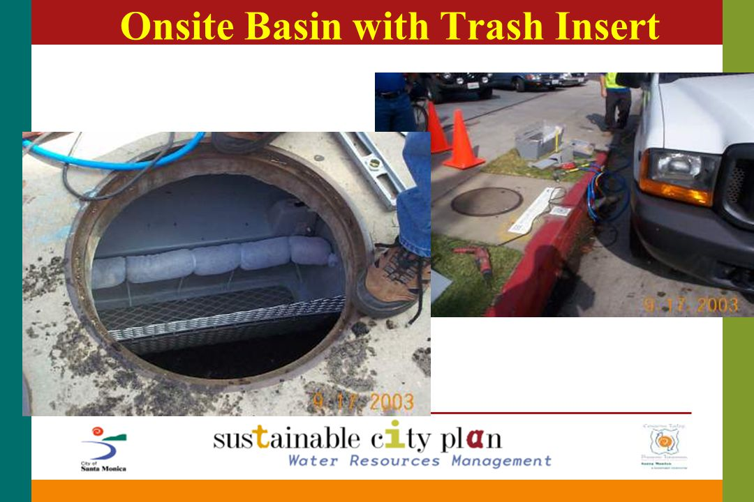Onsite Basin with Trash Insert