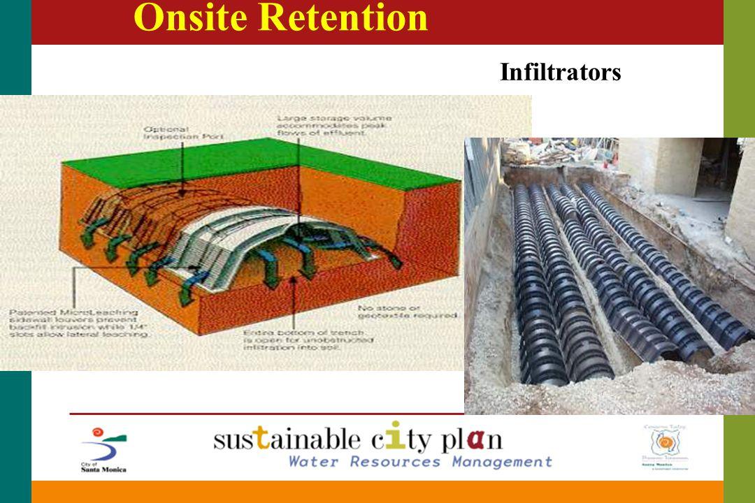 Onsite Retention Infiltrators