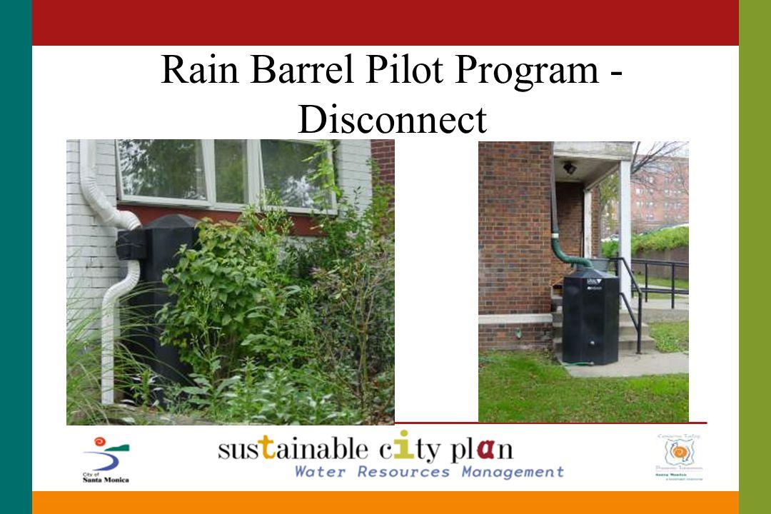 Rain Barrel Pilot Program - Disconnect