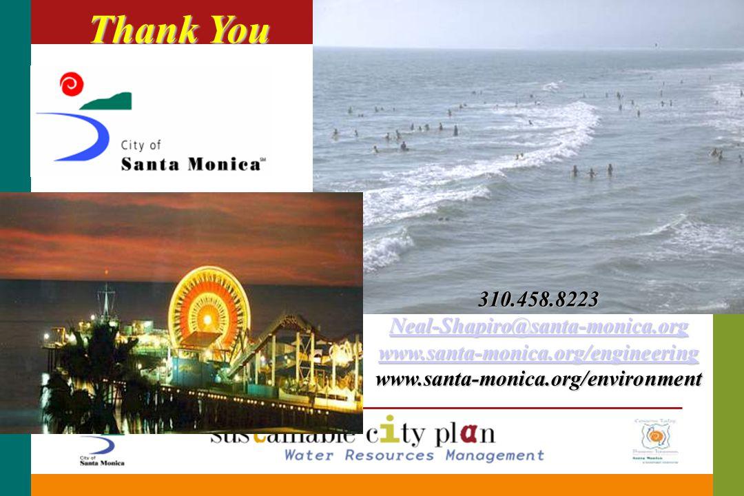 Thank You 310.458.8223 Neal-Shapiro@santa-monica.org www.santa-monica.org/engineering www.santa-monica.org/engineering www.santa-monica.org/environment www.santa-monica.org/engineering