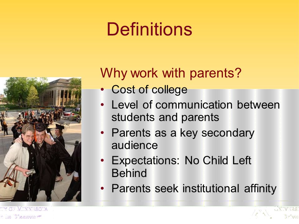 Predictions Participant Question: What may change in college-parent relations based on Today's economy.