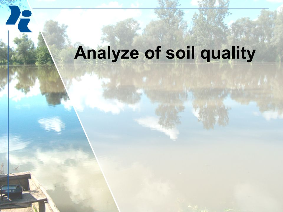Analyze of soil quality