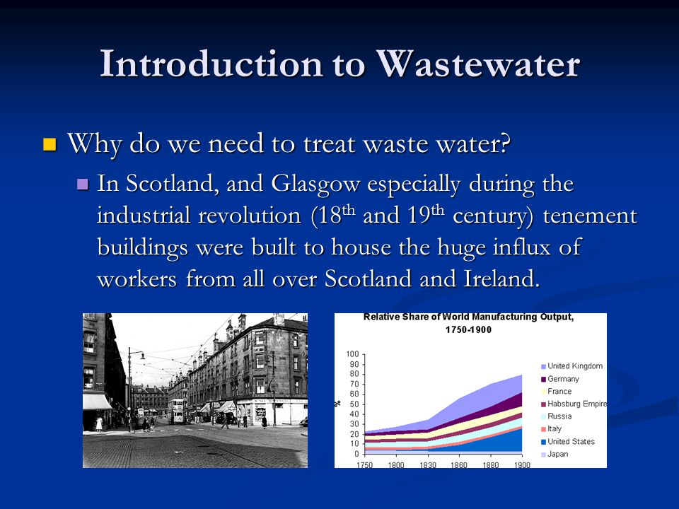 Introduction to Wastewater Why do we need to treat waste water.