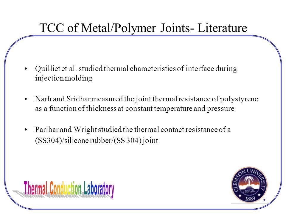 TCC of Metal/Polymer Joints- Literature Quilliet et al.
