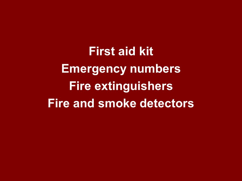 What is important to have in a kitchen in case of an emergency or to help detect an emergency