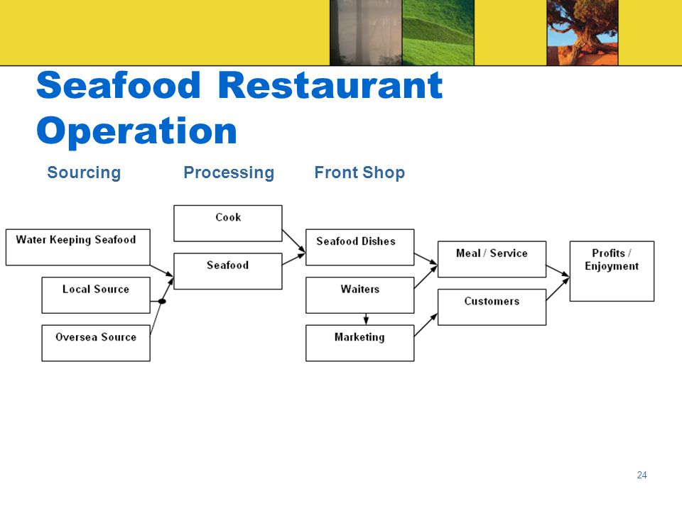 24 Seafood Restaurant Operation ProcessingSourcingFront Shop