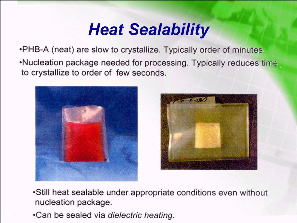 26 Heat Sealability