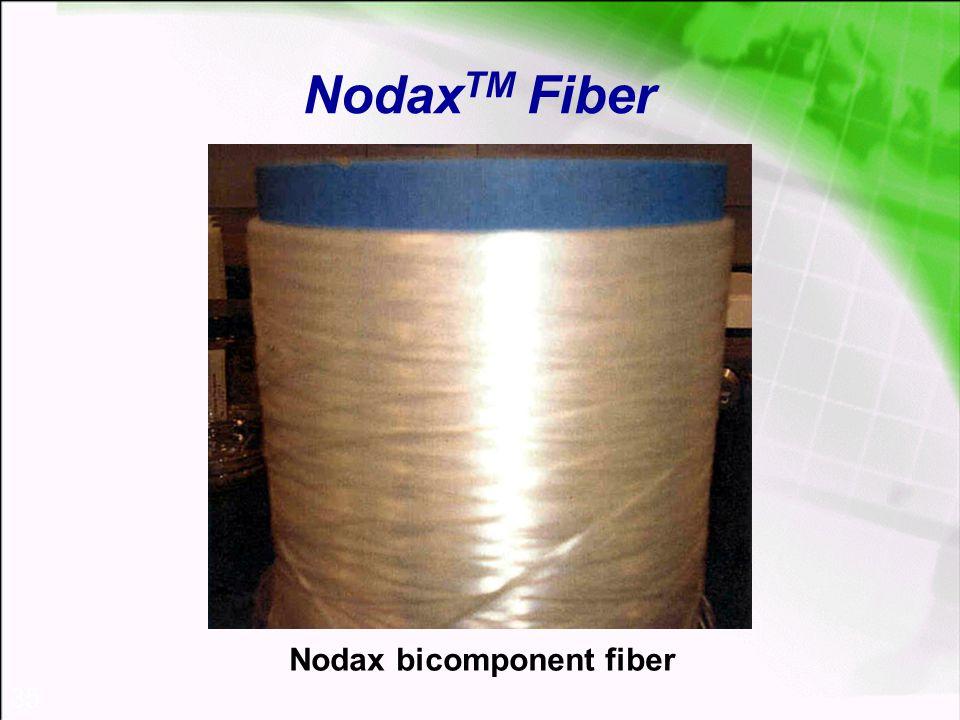 35 Nodax TM Fiber Nodax bicomponent fiber
