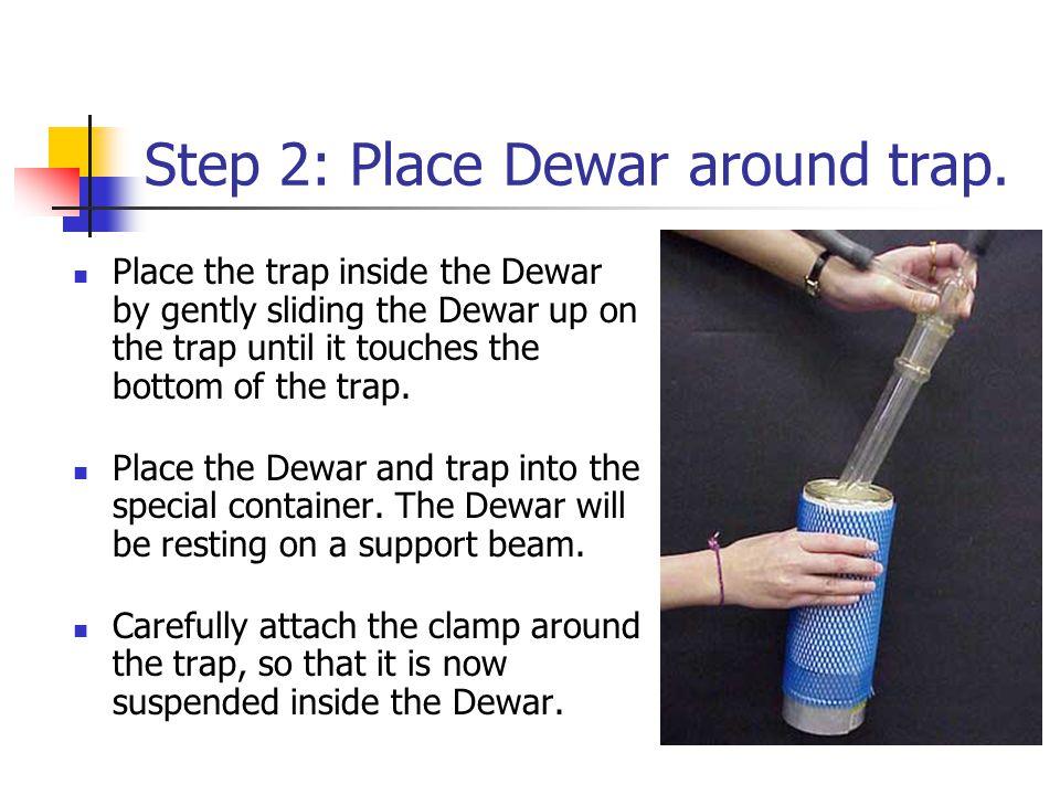 Step 2: Place Dewar around trap.