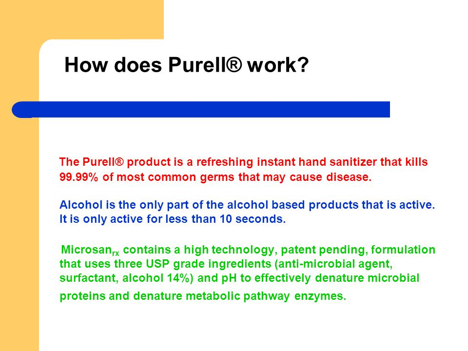 Does Purell® instant hand sanitizer kill the good and bad germs.