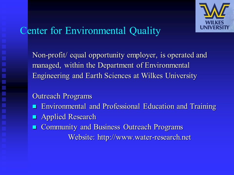 Water Testing Recommendations Package # 4 Based on Gas Company Background Testing and a review of the chemical analysis of used Frac Water.