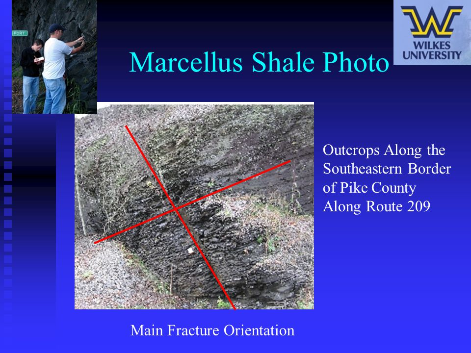 Marcellus Shale Photo Outcrops Along the Southeastern Border of Pike County Along Route 209 Main Fracture Orientation