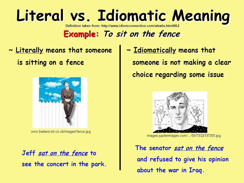 Literal vs.