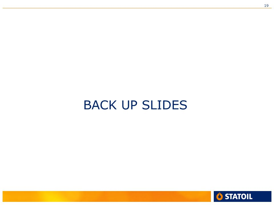 19 BACK UP SLIDES