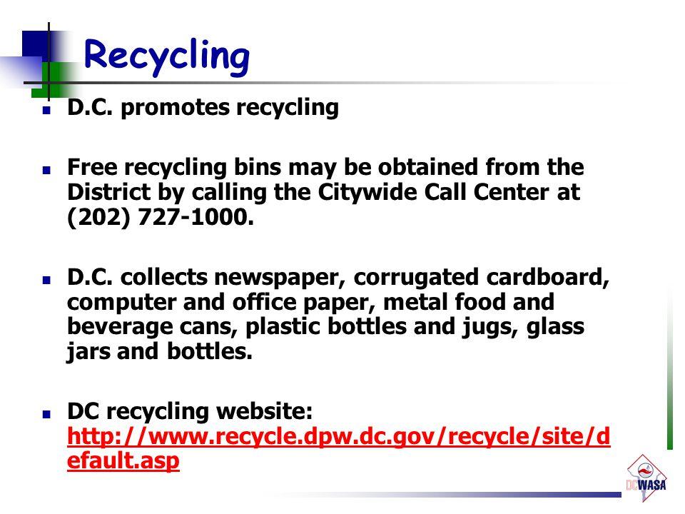 Recycling D.C.