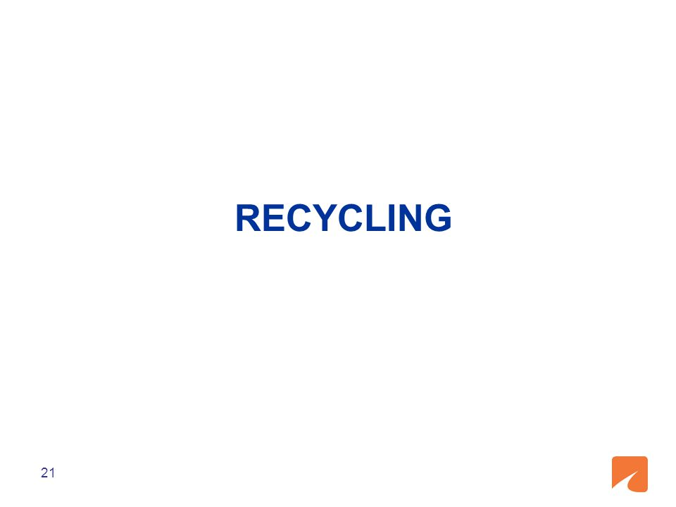 RECYCLING 21