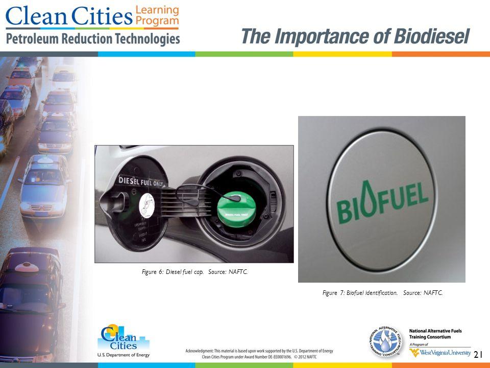 21 Figure 7: Biofuel identification. Source: NAFTC. Figure 6: Diesel fuel cap. Source: NAFTC.
