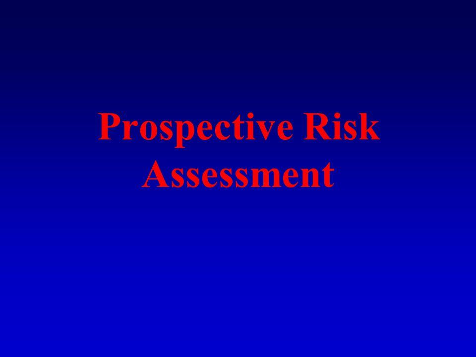 Prospective Risk Assessment
