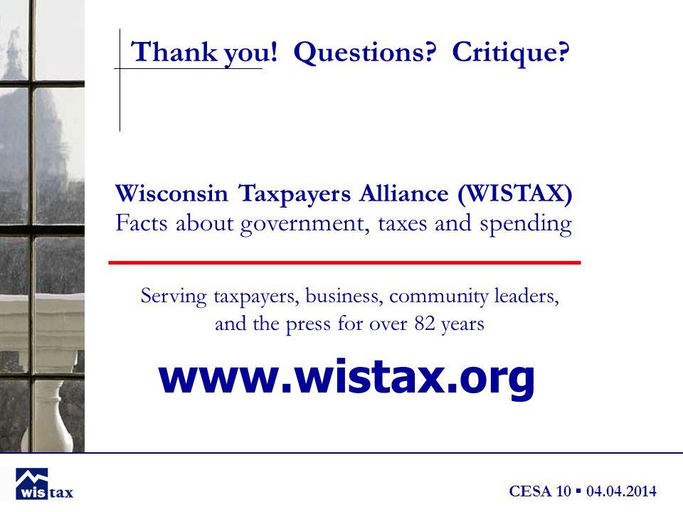 CESA 10 ▪ 04.04.2014 Thank you. Questions. Critique.