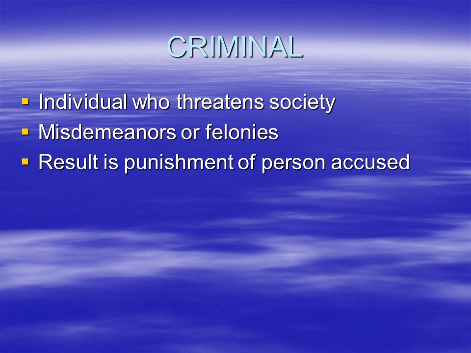 BASIC LEGAL CONCEPTS  Criminal Law  Civil Law  Negligence and Malpractice  Assault and Battery  Invasion of Privacy  False Imprisonment  Defama