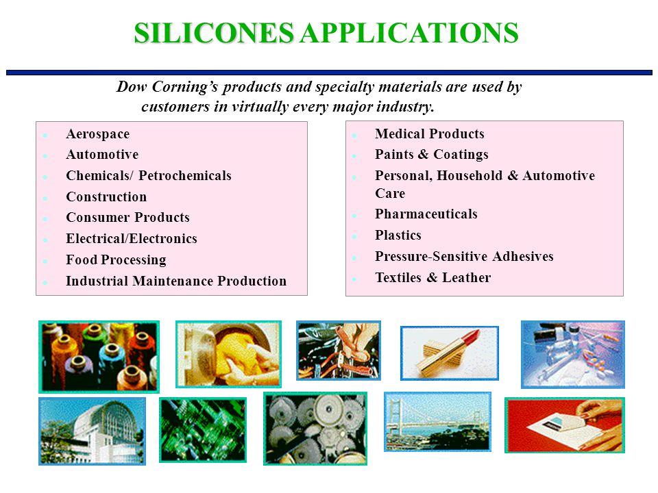 l Aerospace l Automotive l Chemicals/ Petrochemicals l Construction l Consumer Products l Electrical/Electronics l Food Processing l Industrial Mainte