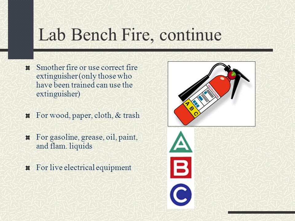 Lab Bench Fire, continue