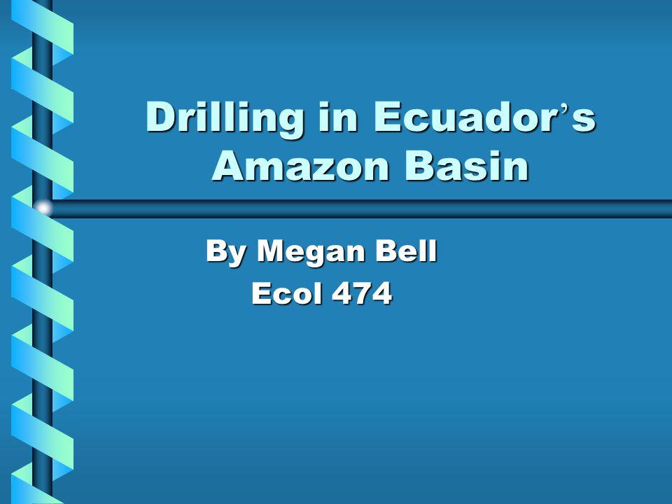 Drilling in Ecuador ' s Amazon Basin By Megan Bell Ecol 474