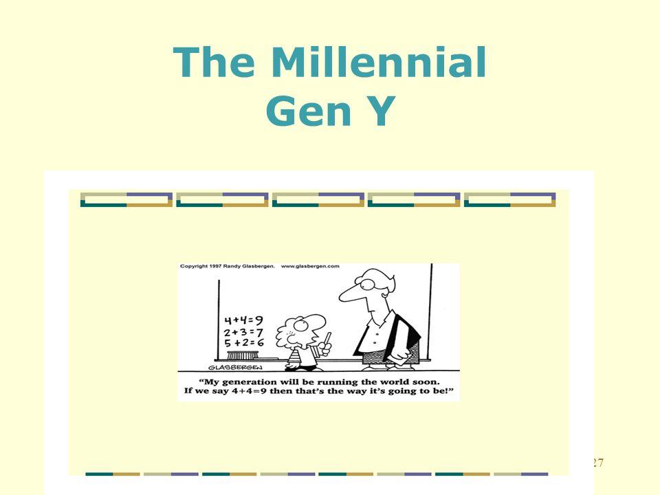 27 The Millennial Gen Y
