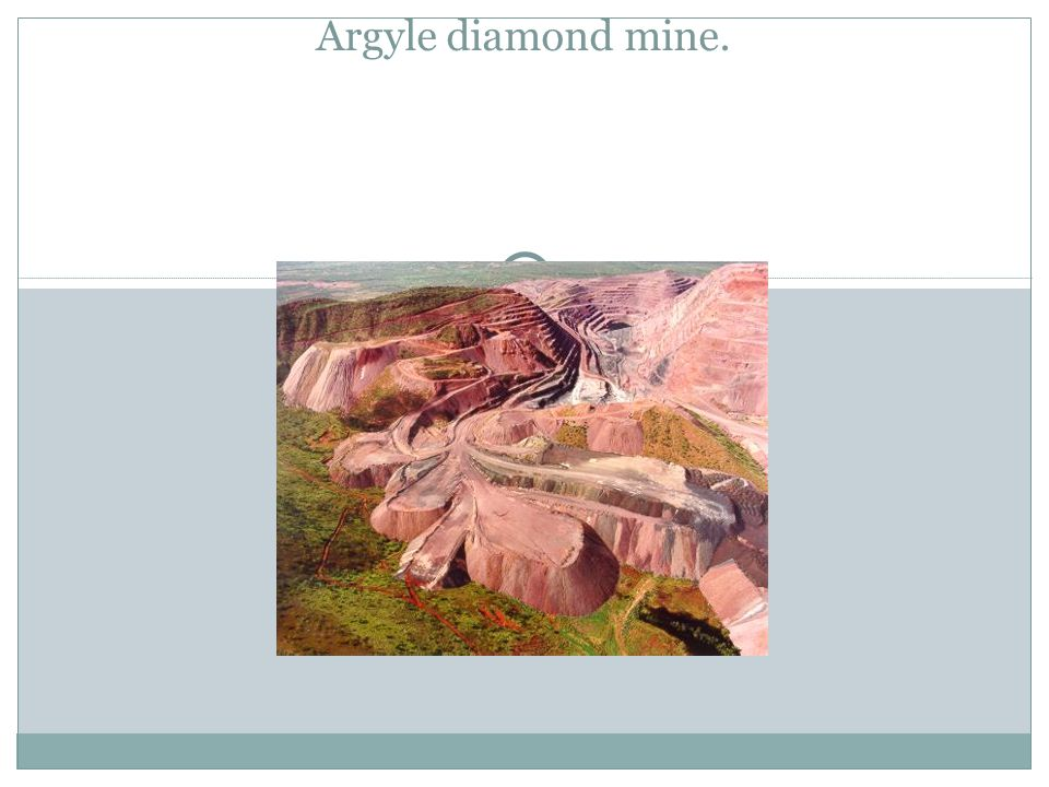 Argyle diamond mine.